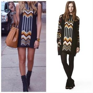 MISSONI FOR TARGET Knit Black Chevron Dress